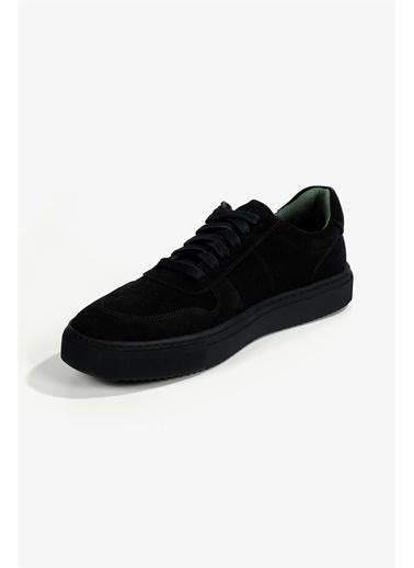 Krähe Cuervo Lacivert Süet Minimal Sneaker Lacivert